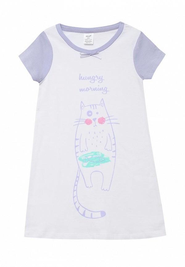 сорочка ночная sela для девочки, белые