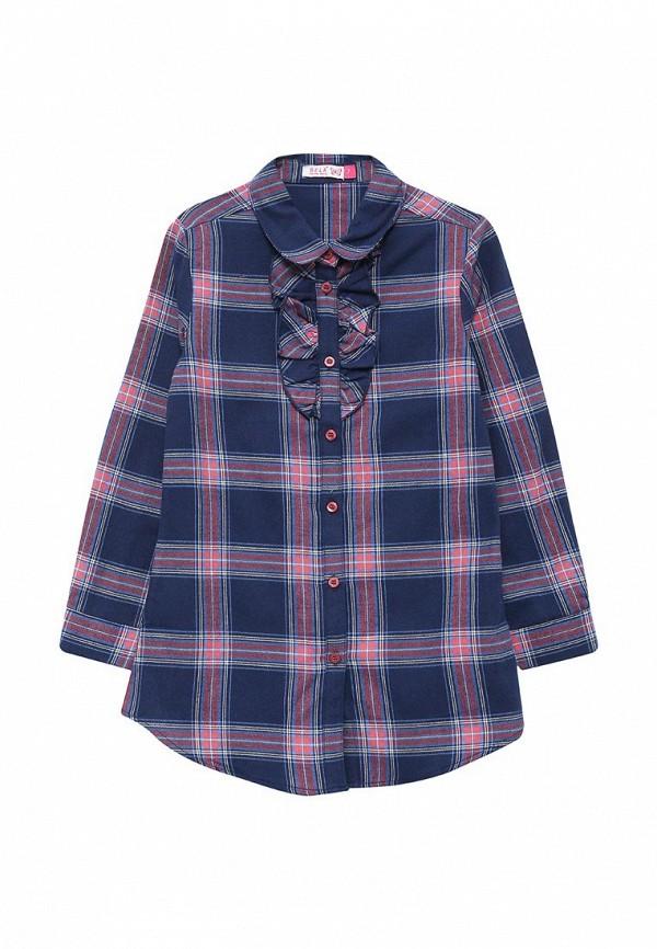 блузка sela для девочки, синяя