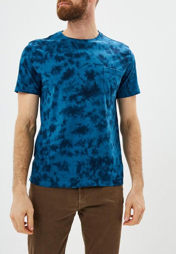 мужская футболка с коротким рукавом sela, синяя