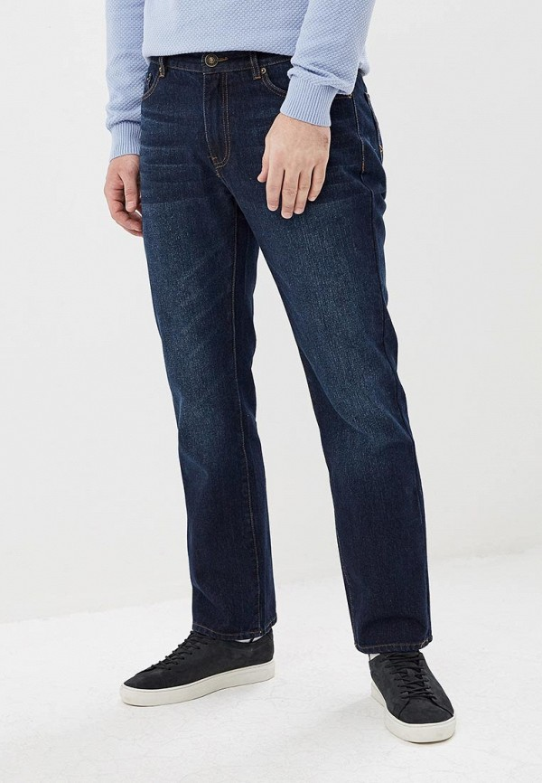 мужские прямые джинсы sela, синие
