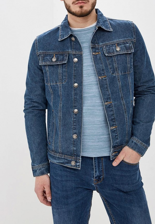 мужская джинсовые куртка sela, синяя