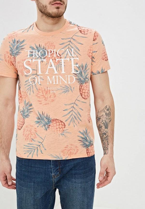 Фото - мужскую футболку Sela розового цвета