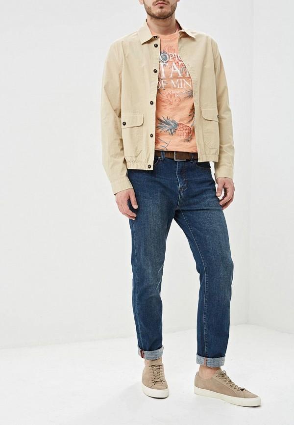 Фото 2 - мужскую футболку Sela розового цвета