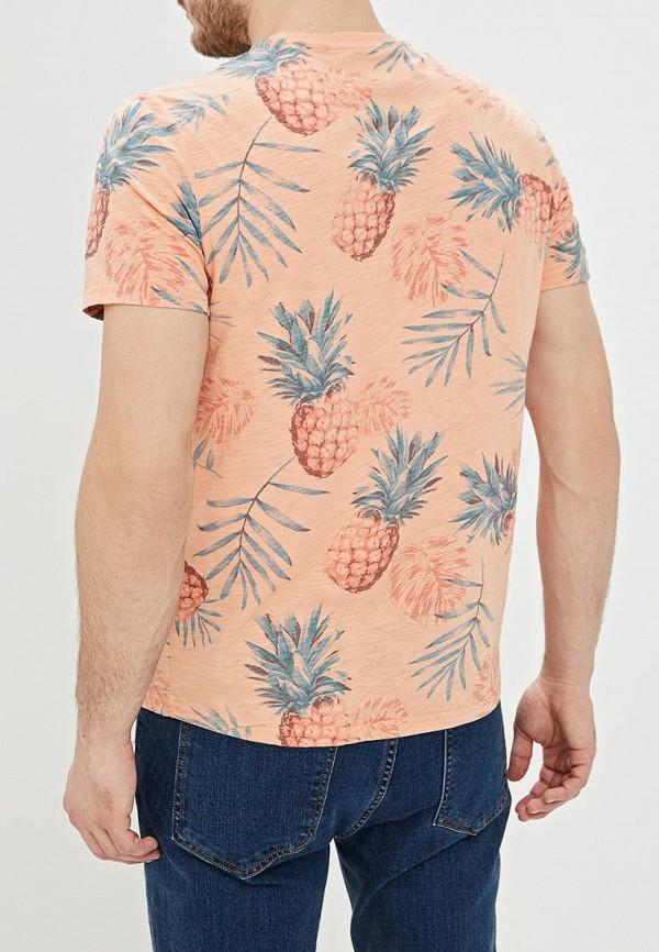Фото 3 - мужскую футболку Sela розового цвета