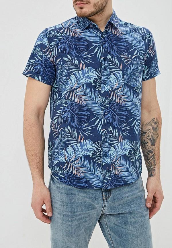 мужская рубашка с коротким рукавом sela, синяя