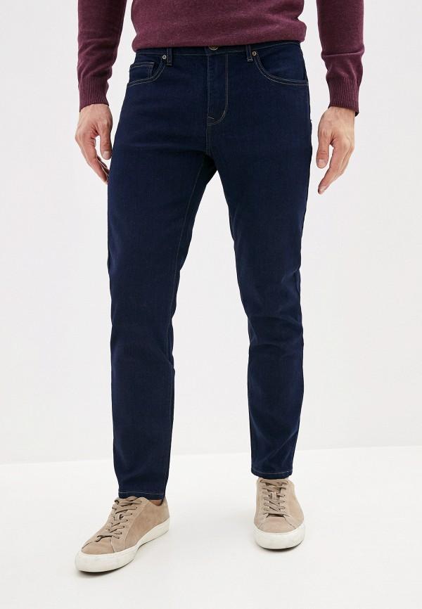 мужские зауженные джинсы sela, синие