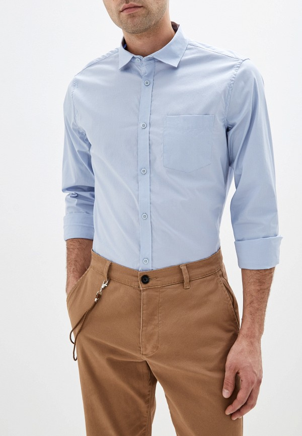 мужская рубашка с длинным рукавом sela, голубая
