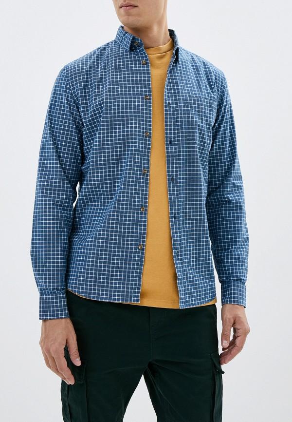 мужская рубашка с длинным рукавом sela, синяя