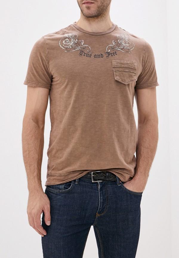 мужская футболка с коротким рукавом sela, бежевая