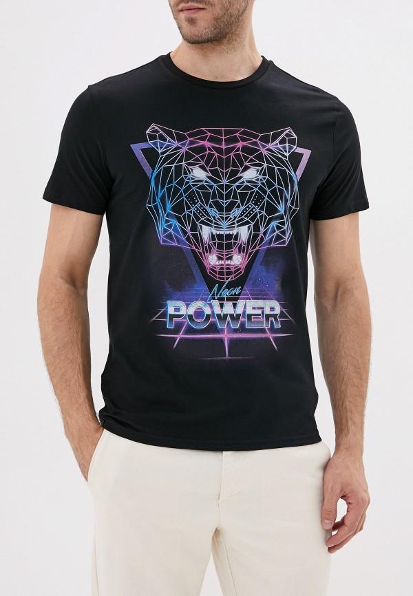 мужская футболка с коротким рукавом sela, черная