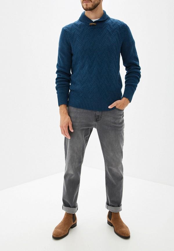 Фото 2 - мужской свитер Sela синего цвета