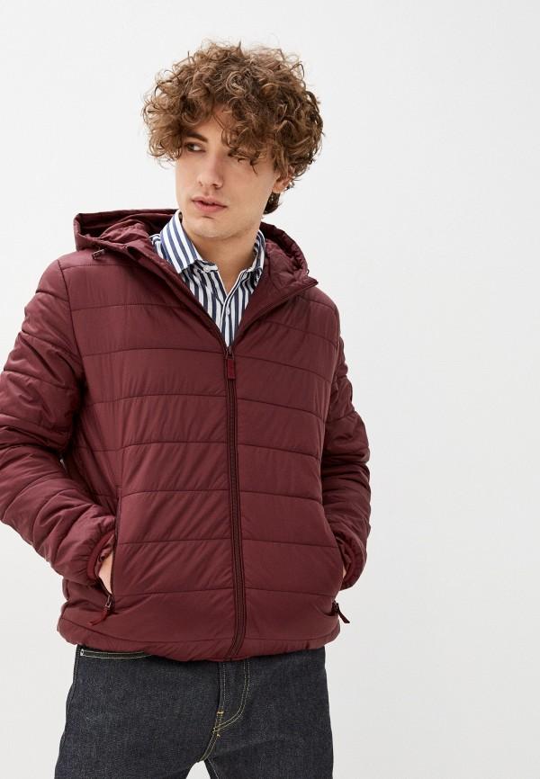 мужская куртка sela, бордовая