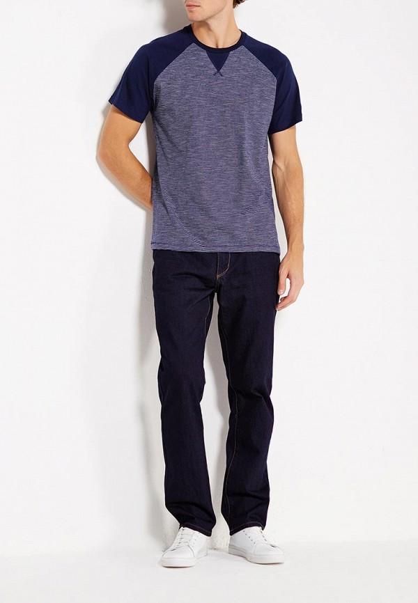 Фото 2 - мужскую футболку Sela синего цвета
