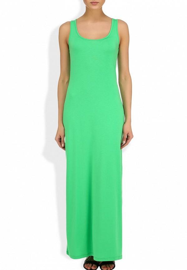 Фото 4 - женское платье Sela зеленого цвета