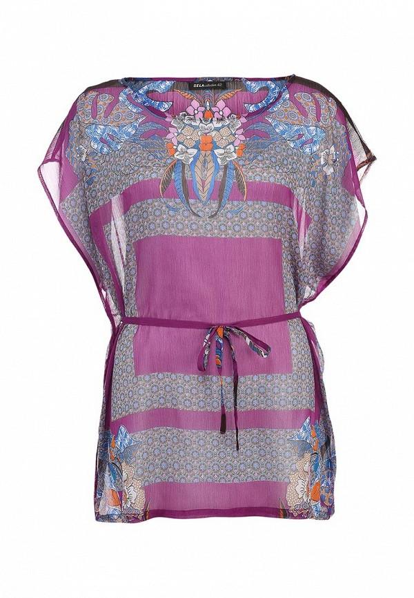 Фото - Блузу Sela фиолетового цвета
