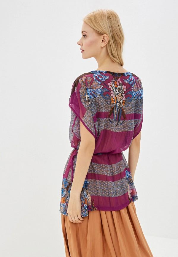 Фото 7 - женскую блузку Sela фиолетового цвета