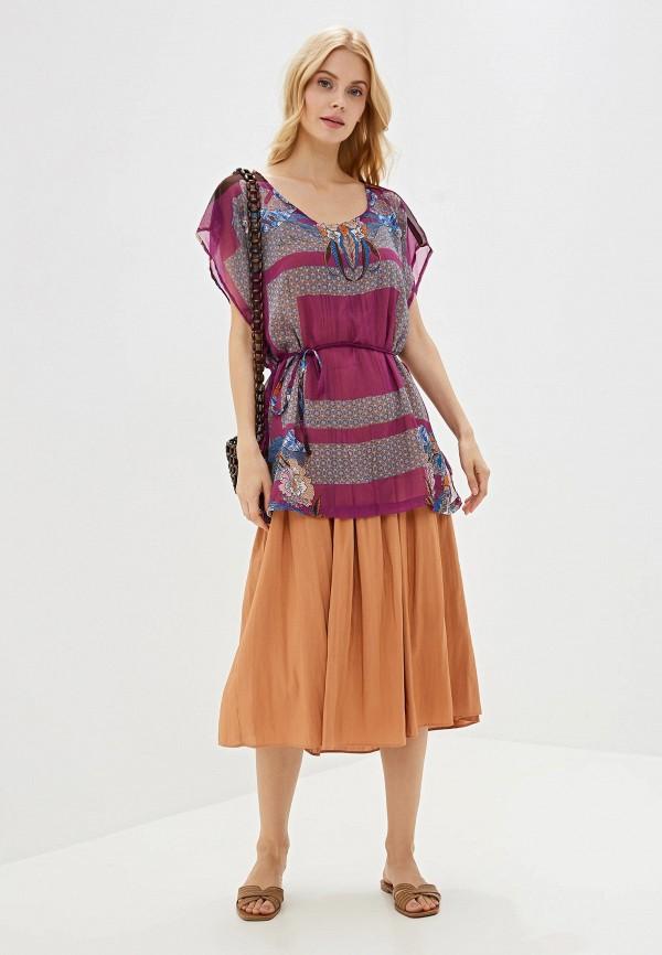 Фото 6 - женскую блузку Sela фиолетового цвета
