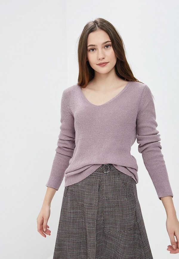 женский пуловер sela, фиолетовый