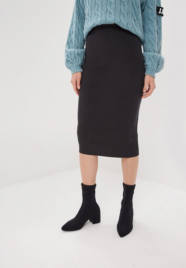 женская зауженные юбка sela, серая