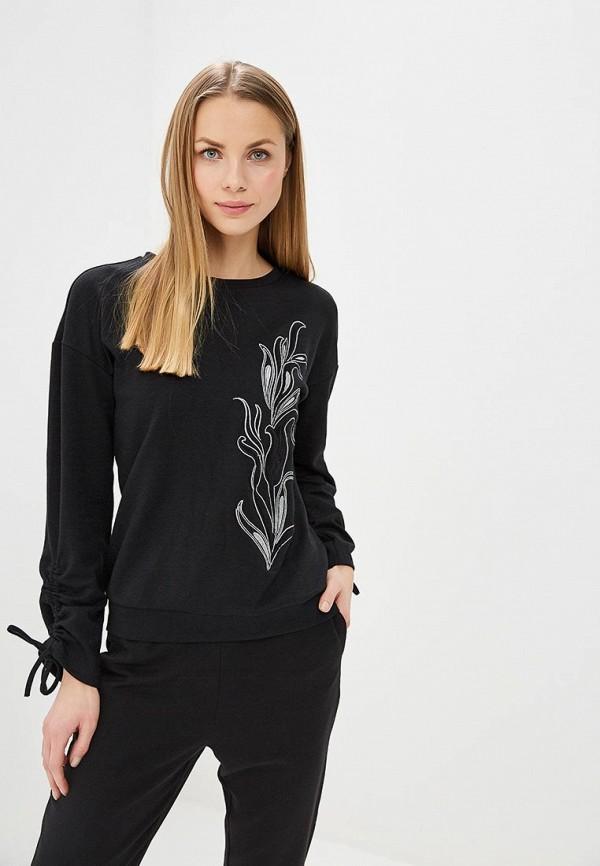 женский свитшот sela, черный