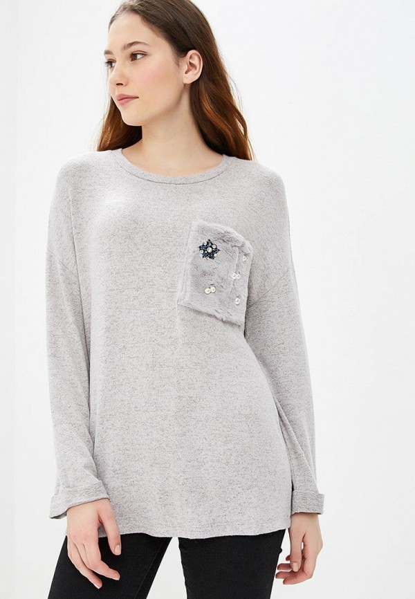 женский джемпер sela, серый