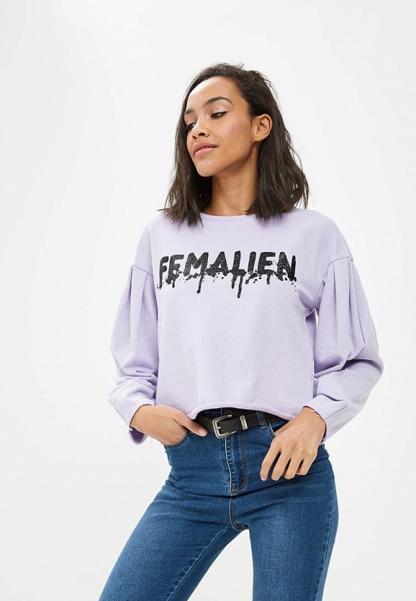 женский свитшот sela, фиолетовый