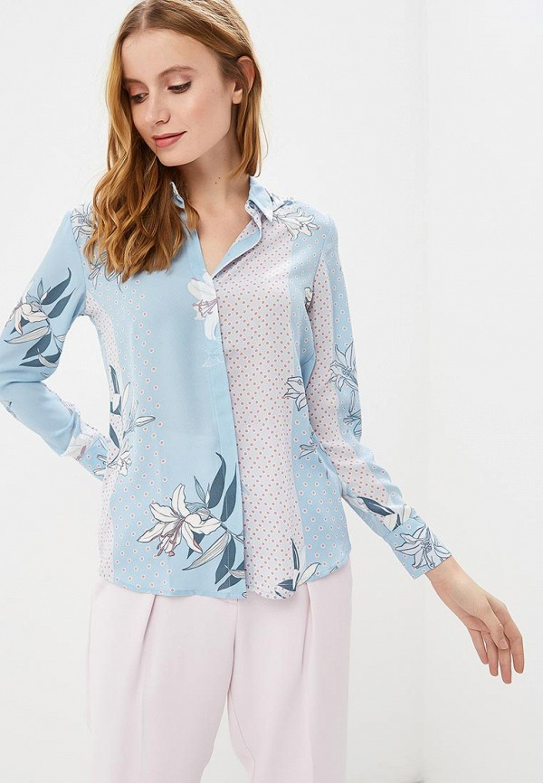 женская блузка sela, голубая
