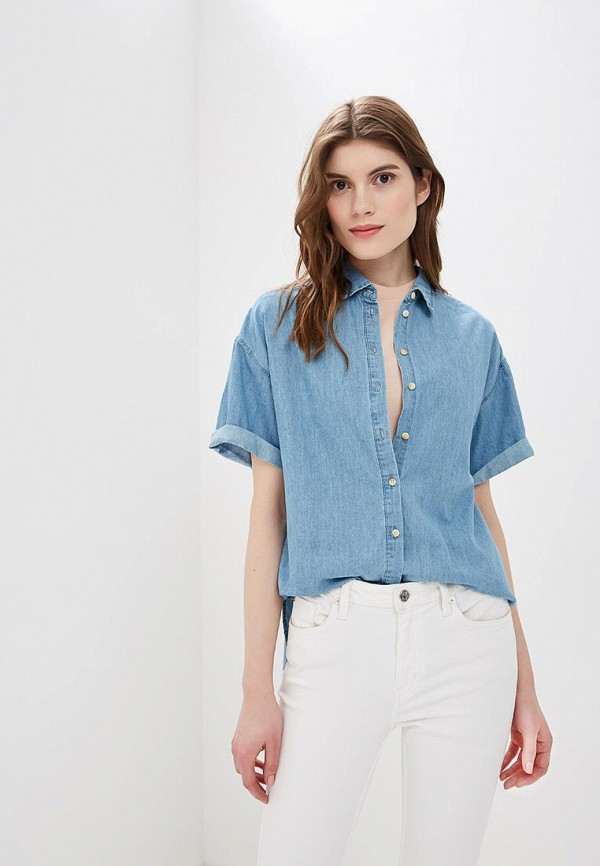 женская джинсовые рубашка sela, голубая