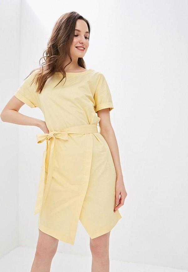 женское повседневные платье sela, желтое