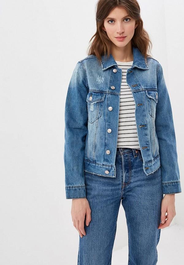 женская джинсовые куртка sela, синяя