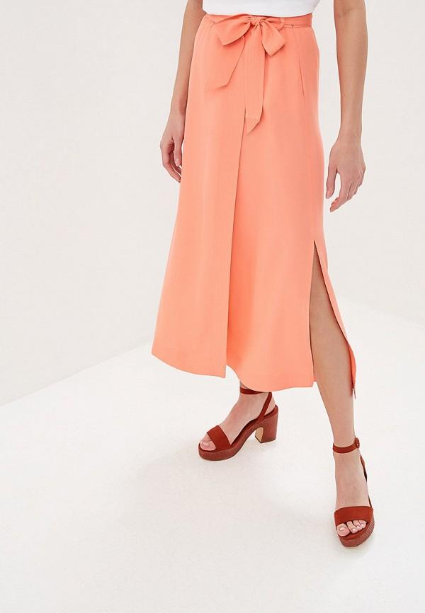 женская прямые юбка sela, розовая