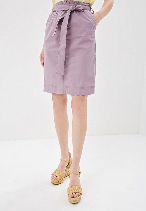 женская прямые юбка sela, фиолетовая