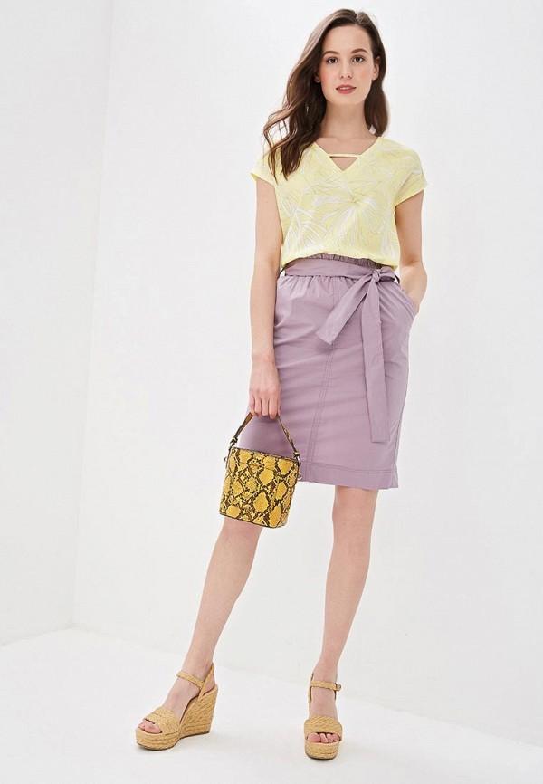 Фото 2 - женскую юбку Sela фиолетового цвета