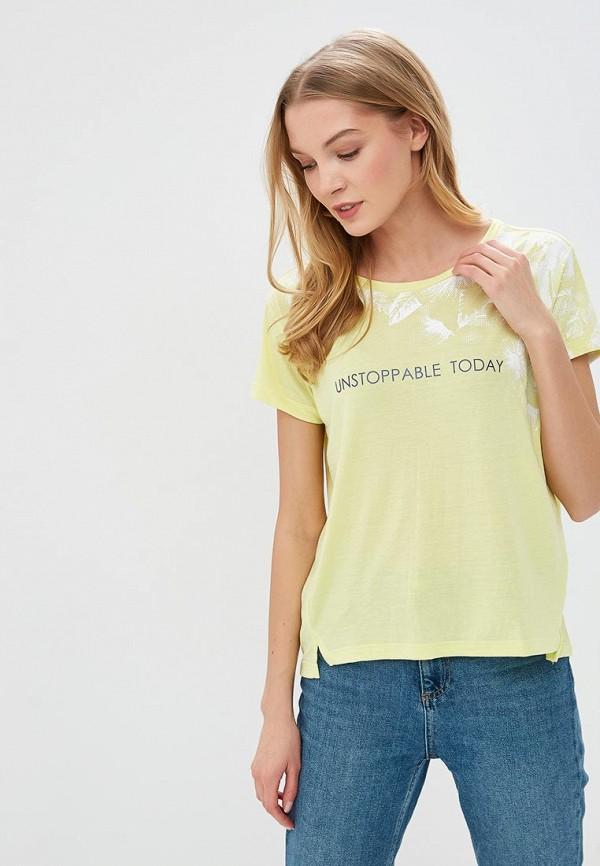 женская футболка sela, желтая