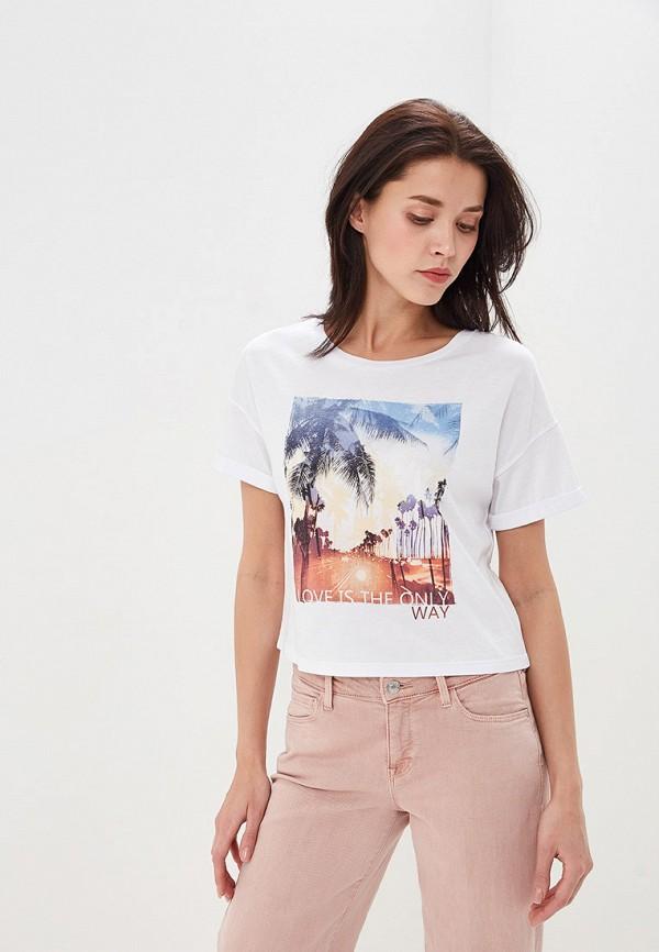 Фото - женскую футболку Sela белого цвета
