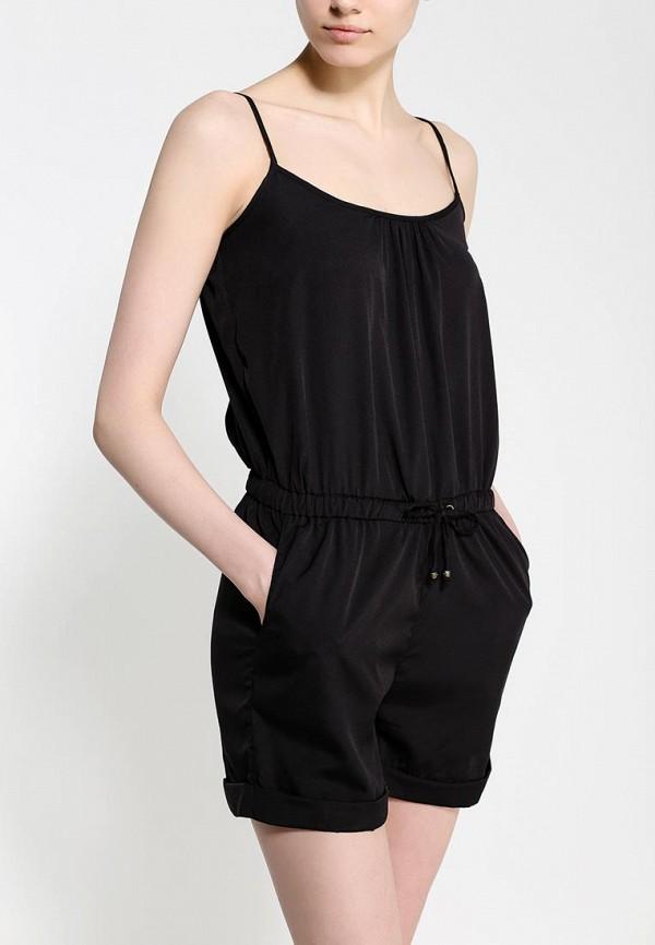 Фото 2 - женский комбинезон Sela черного цвета