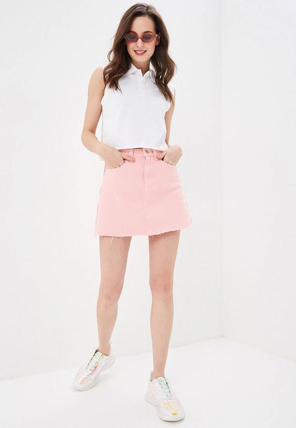 Фото 2 - женскую юбку Sela розового цвета