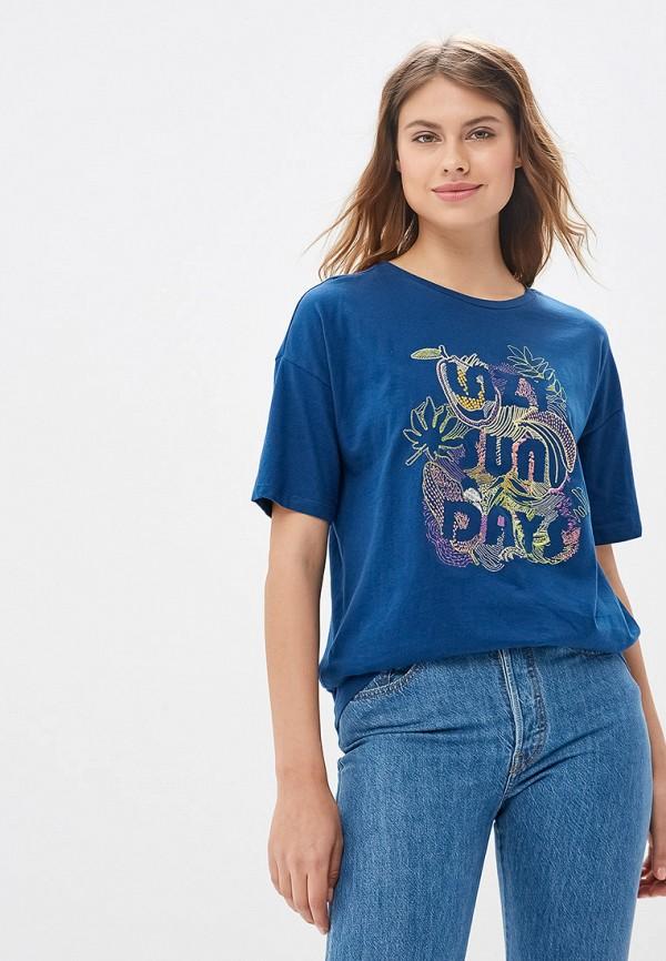 женская футболка sela, синяя