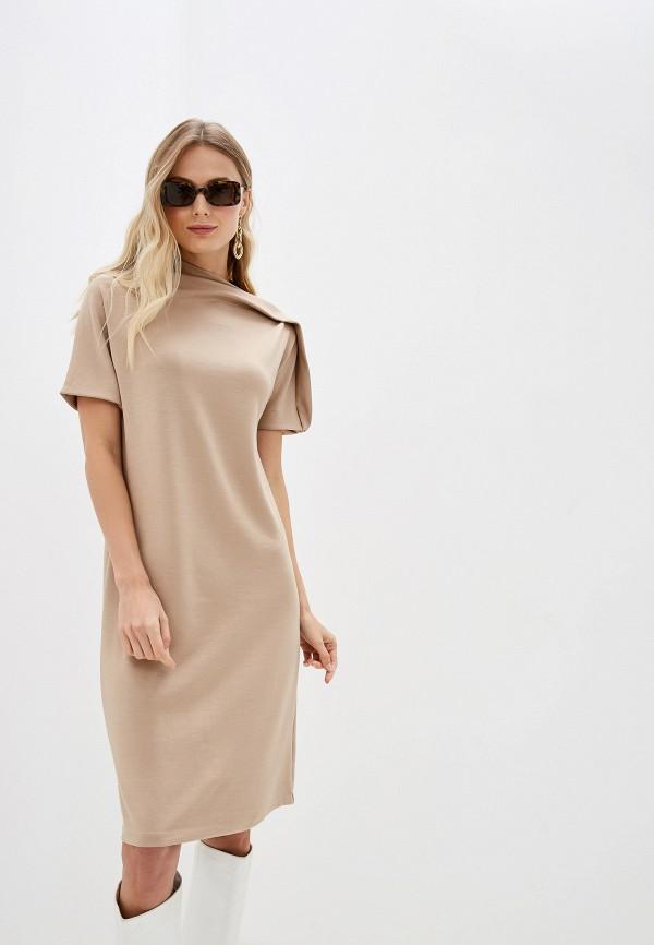Фото - женское платье Sela бежевого цвета