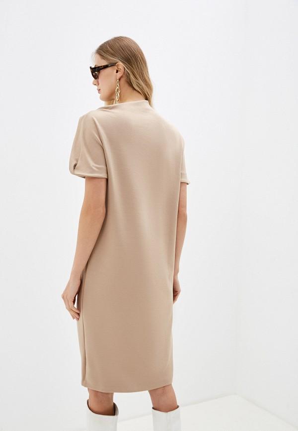 Фото 3 - женское платье Sela бежевого цвета