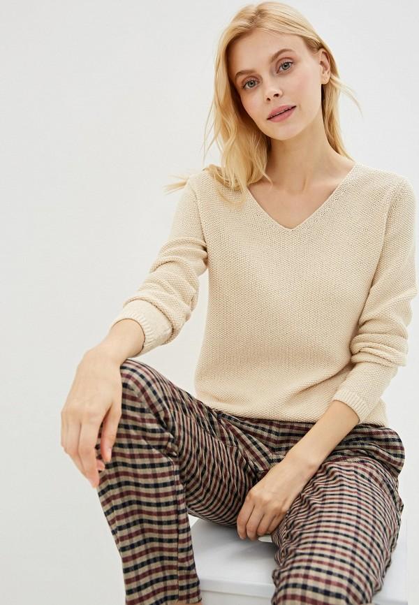 женский пуловер sela, бежевый