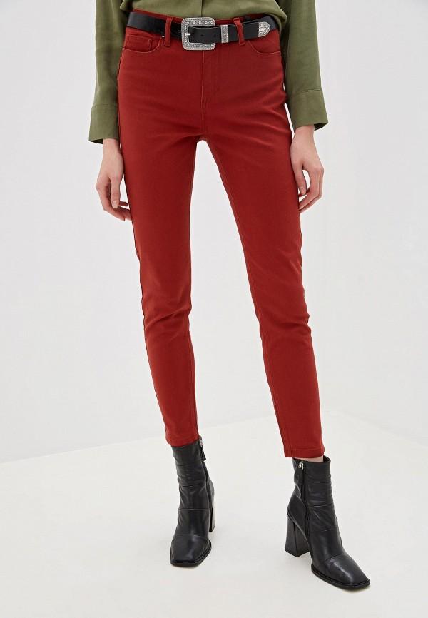 женские повседневные брюки sela, бордовые