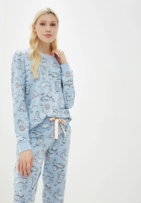 Фото 2 - женский халат или пижаму Sela голубого цвета