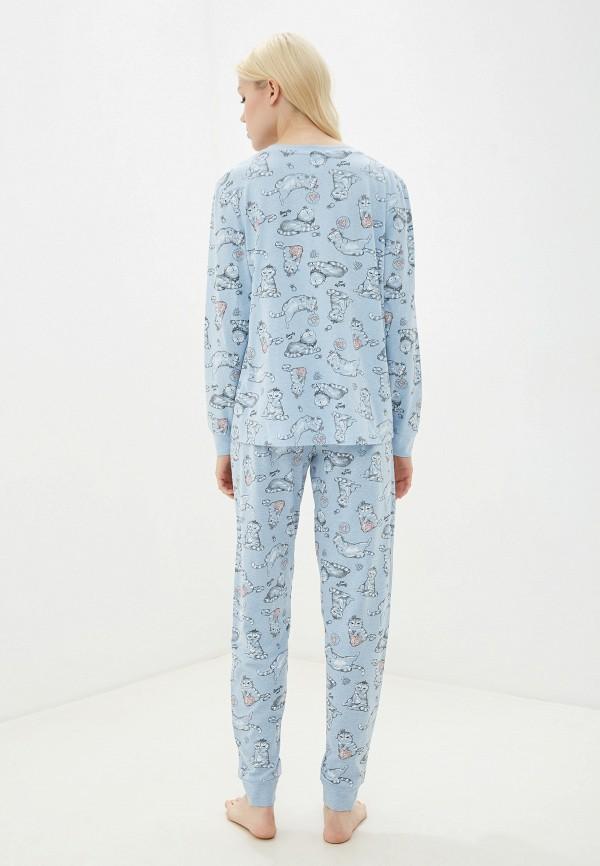 Фото 3 - женский халат или пижаму Sela голубого цвета