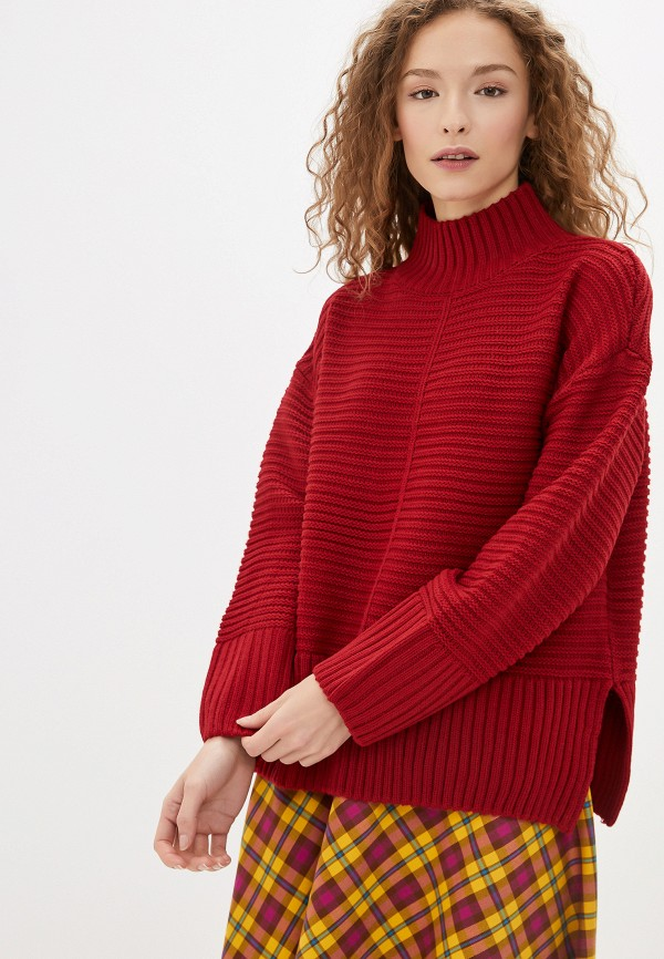 женский свитер sela, бордовый