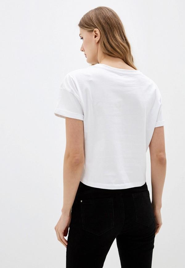 Фото 3 - женскую футболку Sela белого цвета