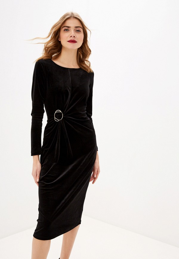 женское вечерние платье sela, черное