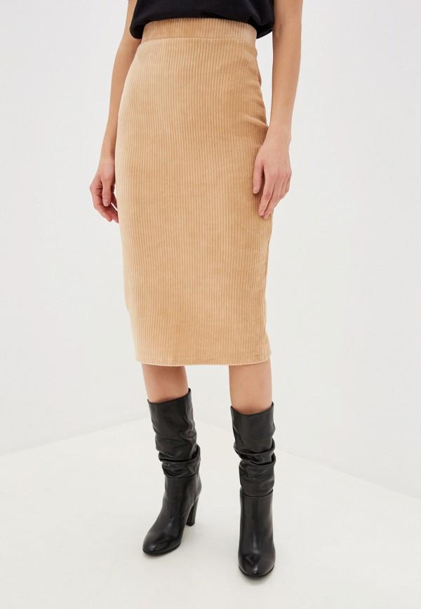 женская зауженные юбка sela, бежевая