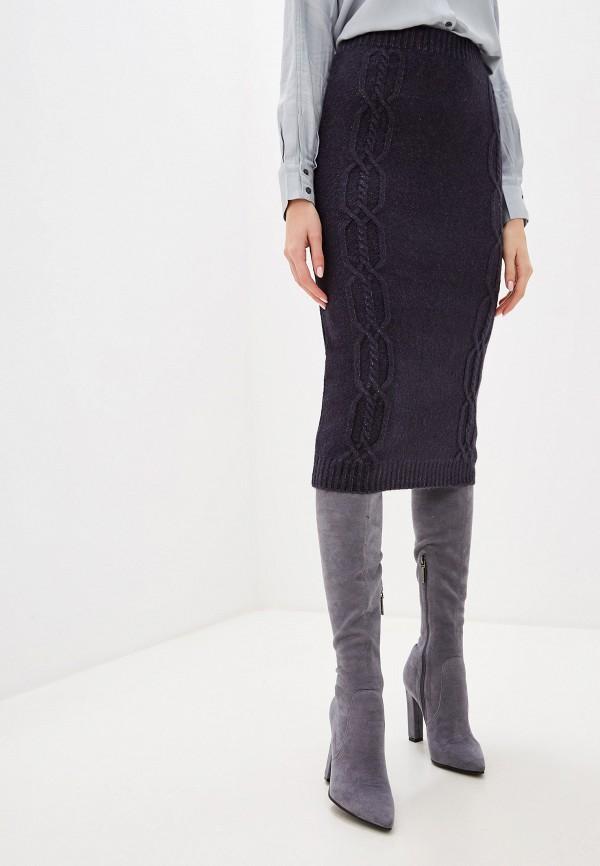 женская прямые юбка sela, серая