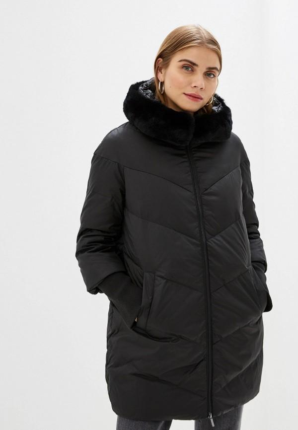 Фото 4 - Куртку утепленная Sela черного цвета
